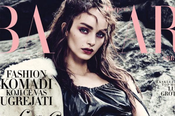 Svjetski model na naslovnici Harper's Bazaar Srbija za siječanj