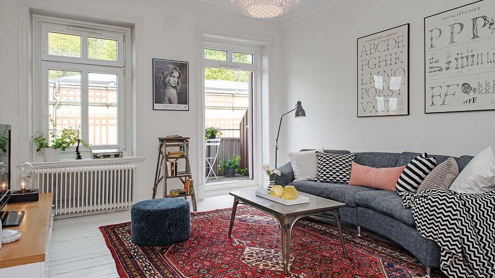 Orijentalni tepih, dnevna soba