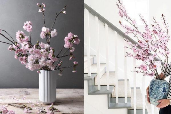 Proljetne grane kao ukras u domu