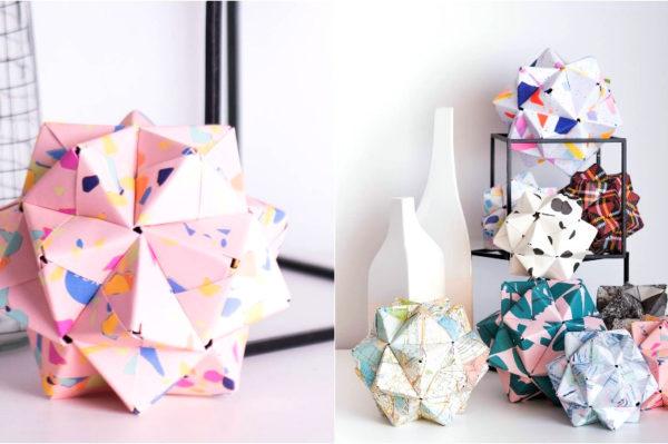 Jako cool skulpture od papira kao ukras