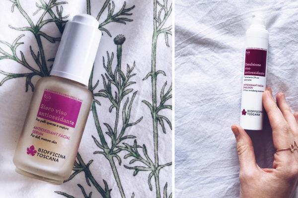 Kombinacija antioksidans kreme i seruma za zreliju kožu