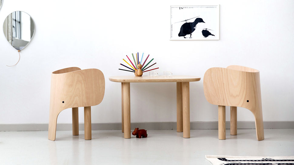 Preslatki dječji set 'Elephant Chair & Table'
