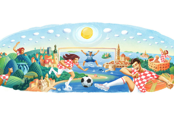 Hrvatska je dobila svoj Google Doodle za Svjetsko nogometno prvenstvo