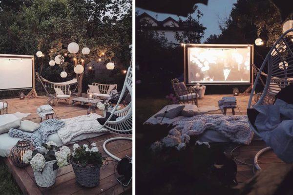Kako bi bilo dobro imati ovakvu ljetnu terasu za gledanje filmova u vrtu
