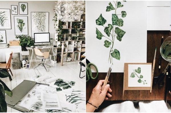 Umjetnost inspirirana botanikom pravo je osvježenje zidovima