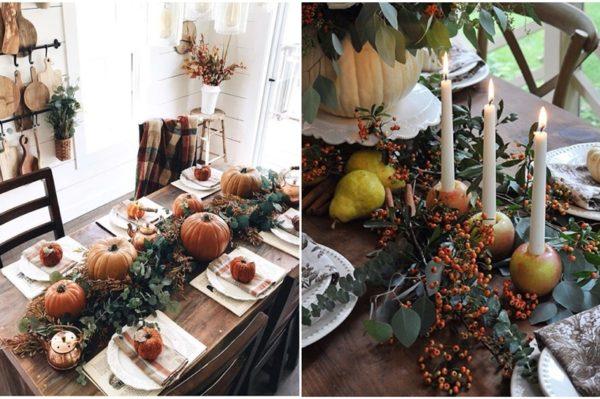 Najljepše dekoracije za postavljanje stola u jesenskom duhu