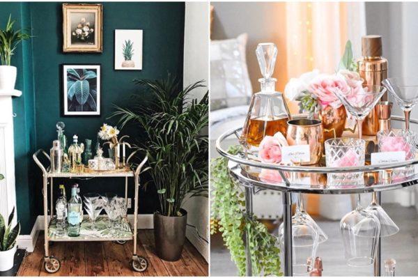 Kućni party nezamisliv je bez dekoriranog stolića za piće