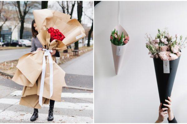 Predimenzionirani buket ili cvjetni kon za originalno Valentinovo