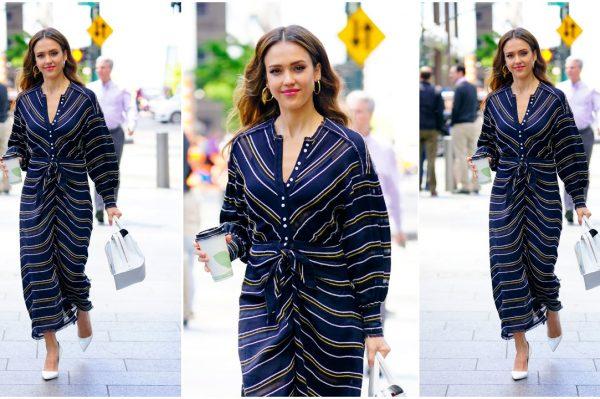 Street style inspiracija: Jessica Alba u savršenoj proljetnoj haljini