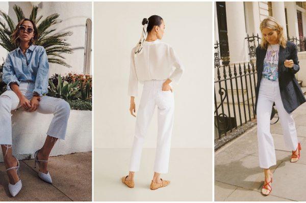 25 savršenih modela bijelih traperica i 10 ideja kako ih nositi ove sezone