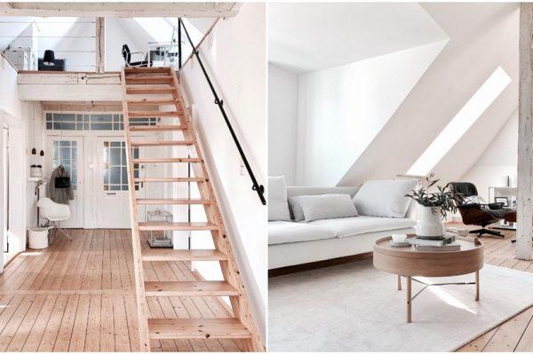 Instagram interijer mjeseca: divan minimalistički stan u potkrovlju