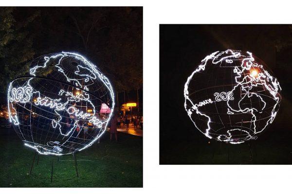 Jučer je u Šibeniku održan Festival svjetla, a ova instalacija privukla je najviše pozornosti