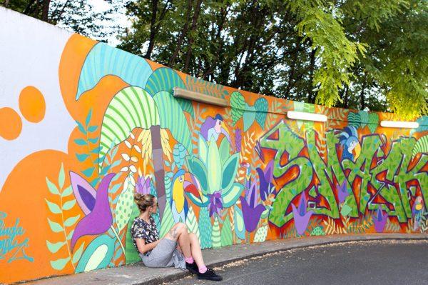 'El tropico' je naziv novog šarenog i veselog murala koji krasi KBC Rebro