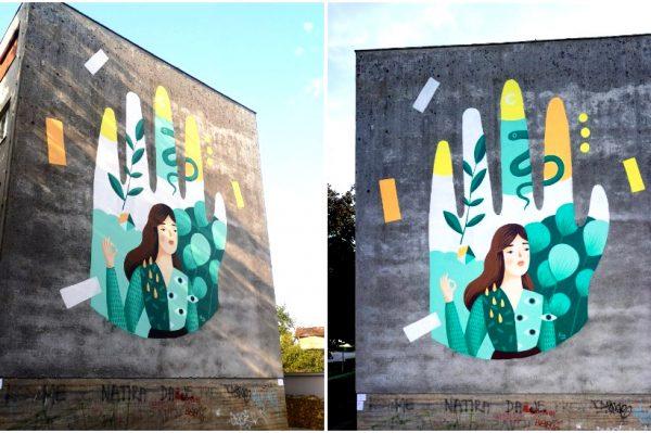 Bečka umjetnica Frau Isa naslikala je prekrasan veliki mural u Sisku