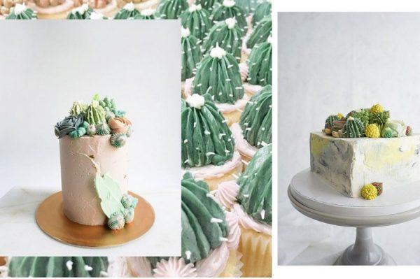 Slastičarnica koja radi divne torte i cupcakese s dekoracijama sukulenata