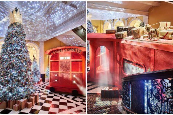Božićno drvce s potpisom Christiana Louboutina krasi predvorje poznatog hotela