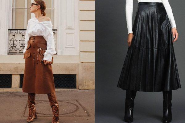 Kožna suknja midi dužine – modni favorit za poslovne i večernje kombinacije