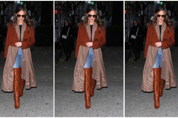 Street style inspiracija: Chrissy Teigen zna kako nositi zemljane boje