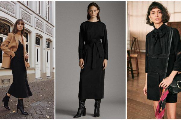 Mala crna haljina u 30 modela za zimske dane
