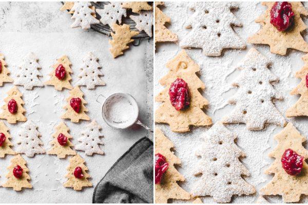 Ana's Baking Chronicles: božićni linzeri s pistacijama i brusnicama