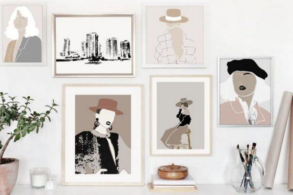 Modne ilustracije hrvatske umjetnice su savršena zidna dekoracija
