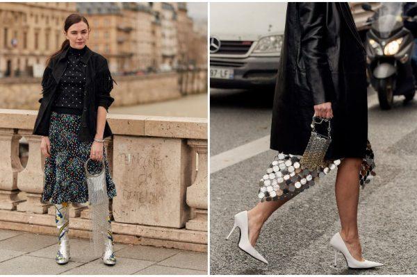 Crna boja i koža – proljetne party kombinacije na pariški način