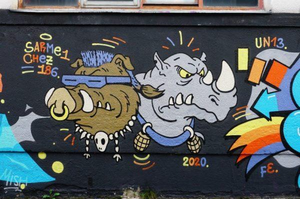 Chez 186 i Sarme_one nacrtali novi graffit u zagrebačkom Studentskom Centru