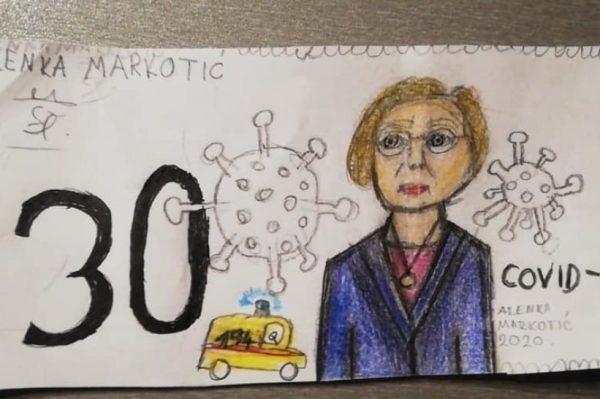Malena Eva nacrtala je prijedlog nove hrvatske novčanice na kojoj je Alemka Markotić