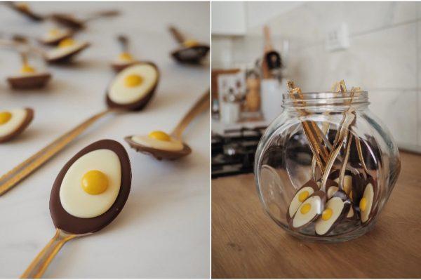 DIY uskrsna čokoladna jaja na oko u žlici