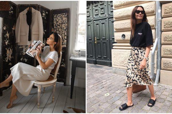 T-shirt i midi suknja – jedina kombinacija koju želimo nositi ovih dana