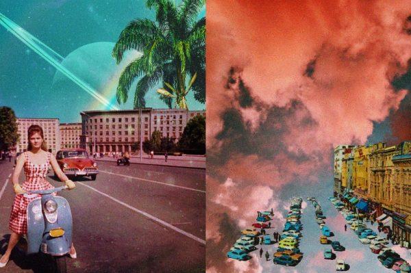 Nostalgične retro razglednice u futurističkom stilu iza kojih stoji naša umjetnica