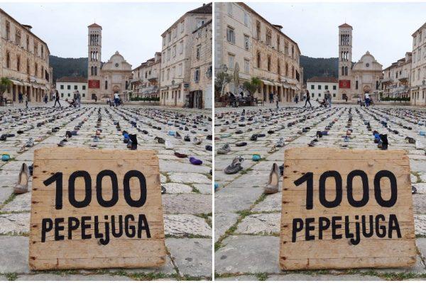 Umjetnička instalacija 1000 Pepeljuga kao razglednica i poruka s Hvara