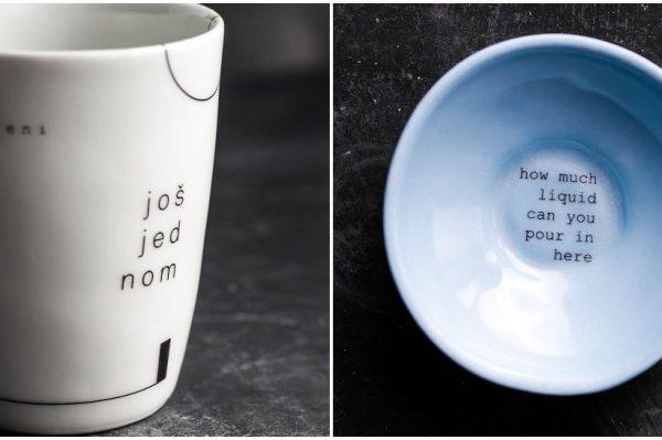 Ove šalice i zdjelice s fora natpisima postat će vaši favoriti za jutarnju kavu i doručak