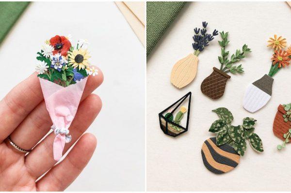 Osvojili su nas ovi minijaturni buketi cvijeća i biljke od papira