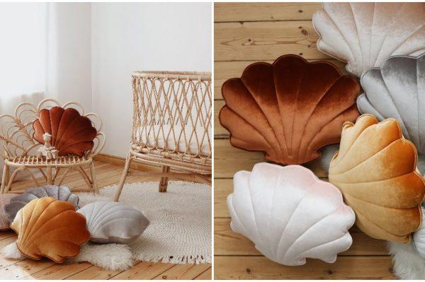 Ovi preslatki jastučići u obliku školjke bit će šarmantan detalj u svakom domu