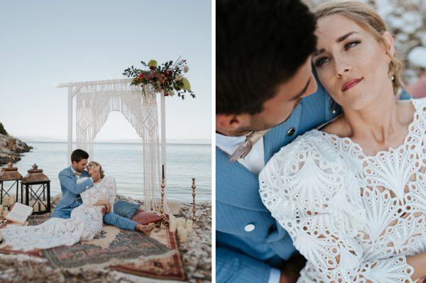 Malo boemsko vjenčanje na plaži