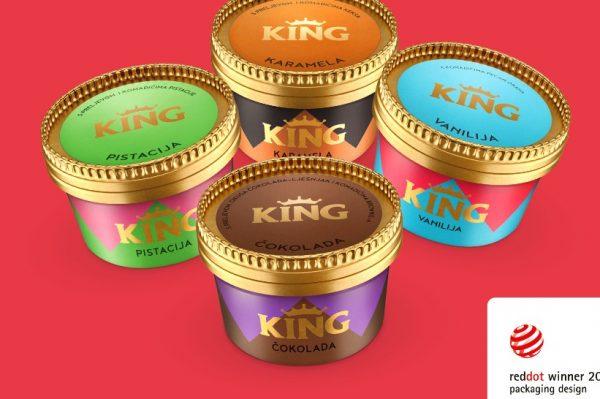 Ledo dobitnik prestižne nagrade Red Dot za dizajn King čašica