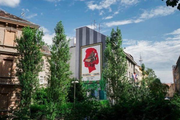 Boris Bare autor je novog murala u Dežmanovom prolazu posvećenog Fryderyku Chopinu