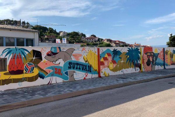 GNG 2020: Chez 186, Sarme i Royal oslikali zidove u Sutivanu na Braču