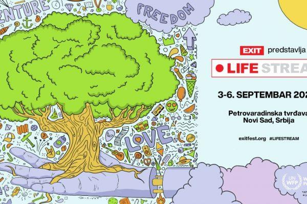 EXIT Festival sa Svjetskim programom za hranu Ujedinjenih naroda, s Petrovaradinske tvrđave lansira projekt Life Stream