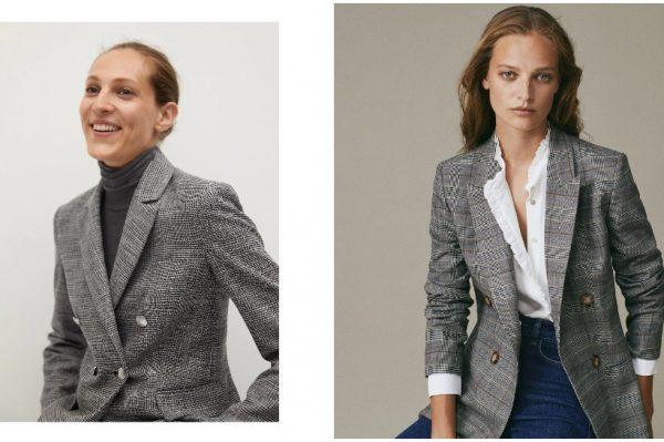 7 savršenih: Sivi karirani blejzeri za chic modnu jesen