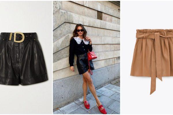 Kožni šorc je trendi komad koji je zavladao jesenskim garderobama