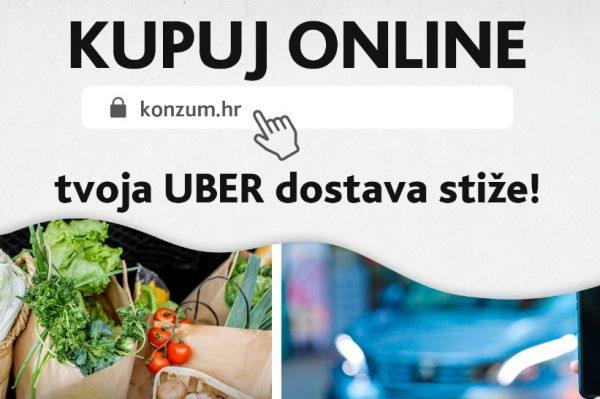 Konzum i Uber pokrenuli zajedničku uslugu dostave namirnica