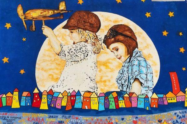 """Leonard Lesić zaslužan je za mural posvećen djeci naziva """"Mašta je supermoć"""""""