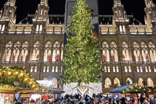 U Beču je postavljeno božićno drvce koje će uskoro zablistati tisućama lampica