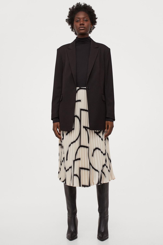 H&M plisirana suknja zima 2020./2021.