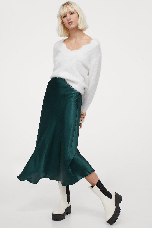 H&M zelena boja zima 2020.