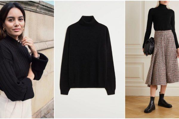 7 savršenih: crna dolčevita kao ultimativni modni favorit za zimske dane