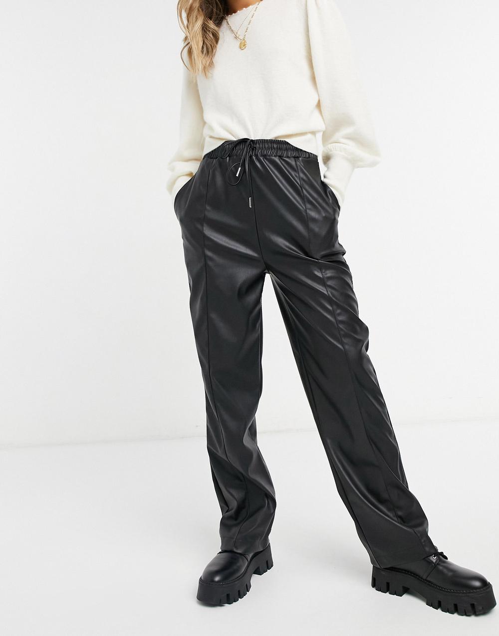ASOS Design kožne hlače jogger model 2021.