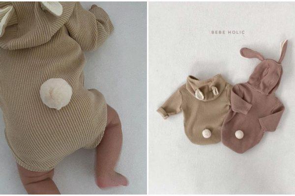 Super slatki baby kombinezoni u obliku zečića